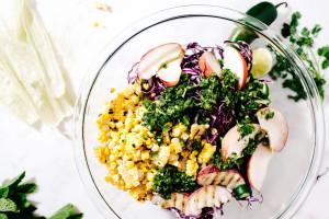 corn coleslaw recipe - www.iamafoodblog.com
