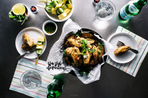 crispy oven baked thai chicken wings recipe - www.iamafoodblog.com
