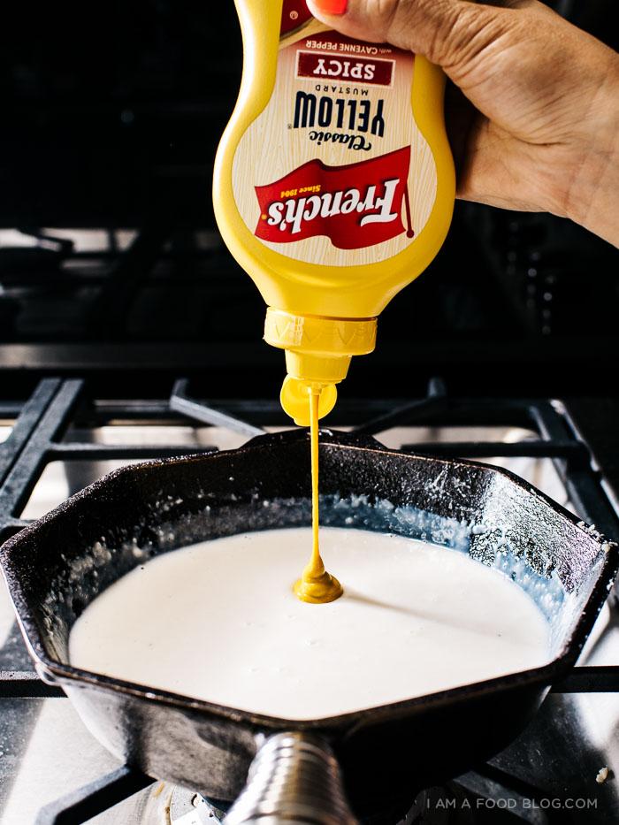 mini hama nd cheese croque monsieur puff pastry tarts recipe - www.iamafoodblog.com