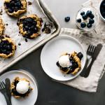 mini blueberry galettes recipe - www.iamafoodblog.com