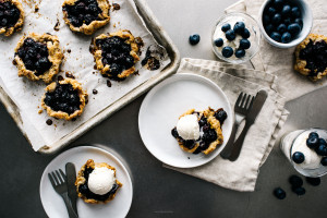 mini blueberry galettes recipe - www.iamafoodblog.com
