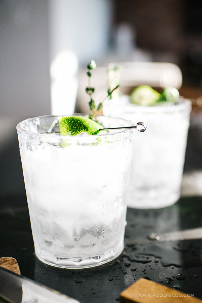 thyme gin and tonic recipe - www.iamafoodblog.com