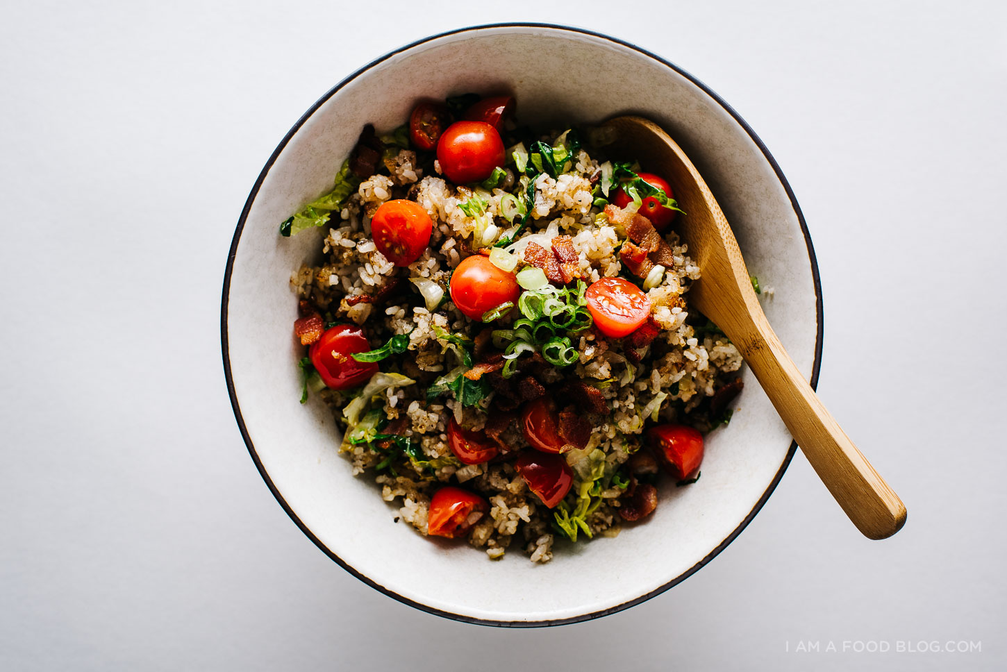BLT fried rice recipe - www.iamafoodblog.com