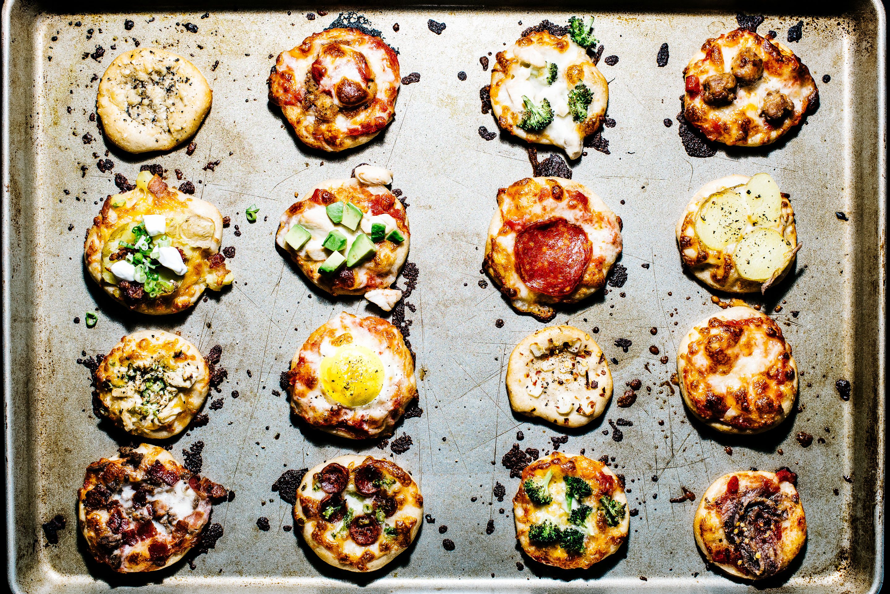 Mini No Knead Pizzas I Am A Food Blog I Am A Food Blog