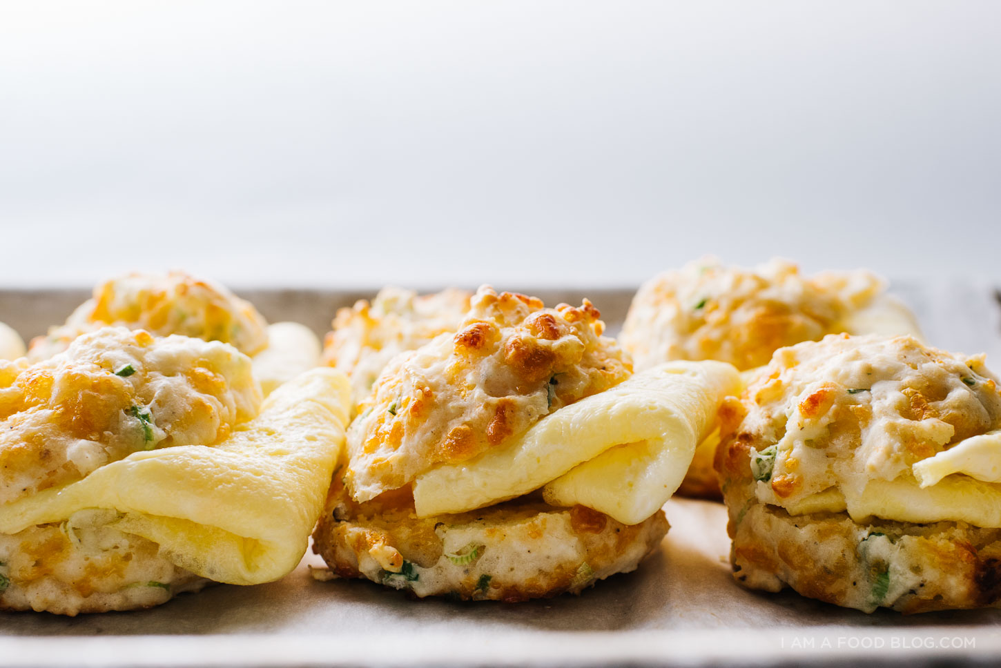 sour cream and chive egg biscuits sandwich recipe - www.iamafoodblog.com