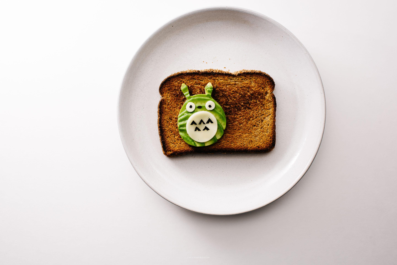 totoro toast - www.iamafoodblog.com
