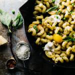 scoobi doo pasta with burrata and tomatoes - www.iamafoodblog.com
