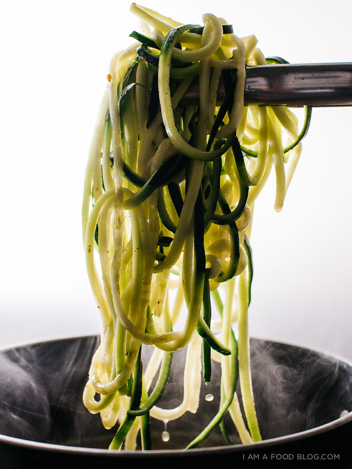 tan tan zoodles recipe - www.iamafoodblog.com