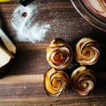 mini puff pastry apple roses - www.iamafoodblog.com