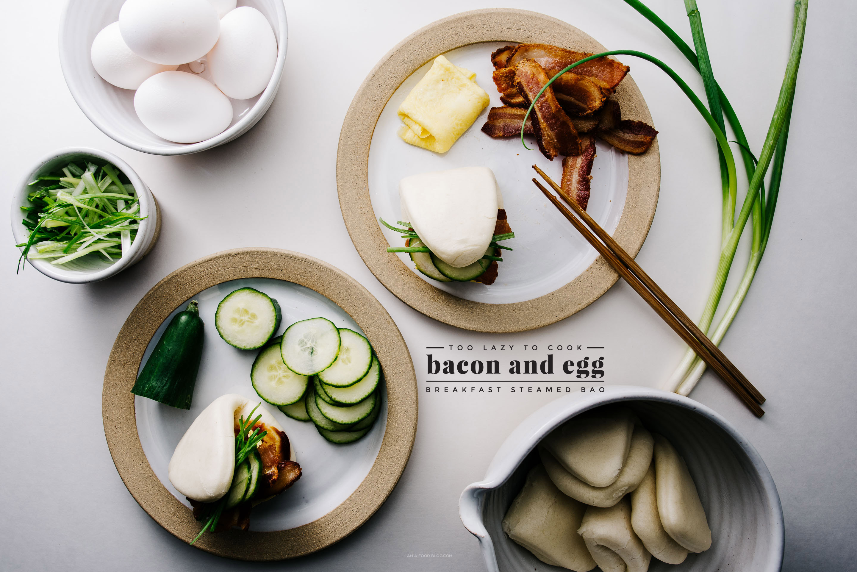 Sunday Brunch Bacon and Egg Gua Bao i am a food blog i am a food blog