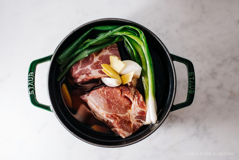 braised chashu pork shoulder recipe - www.iamafoodblog.com