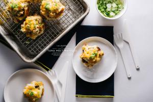tuna melt waffle recipe - www.iamafoodblog.com