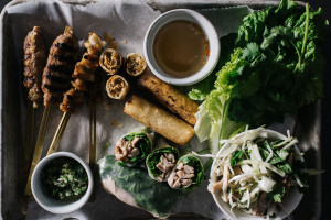 a vietnamese thanksgiving feast with turkey five ways - www.iamafoodblog.com