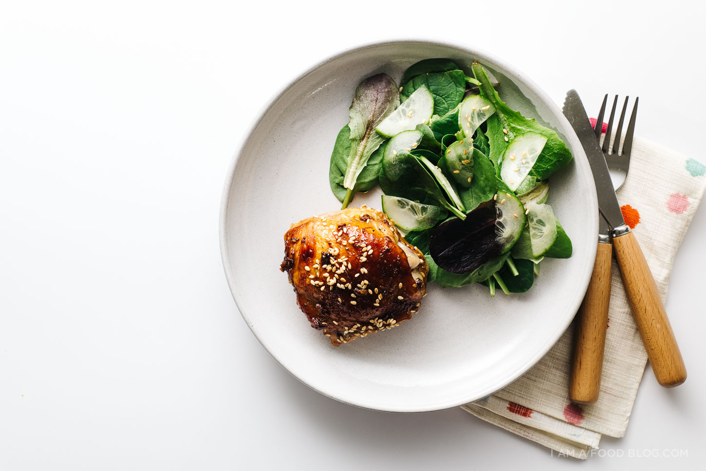 baked sesame chicken thigh recipe - www.iamafoodblog.com