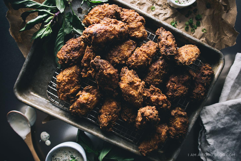 buttermilk fried chicken wing recipe - www.iamafoodblog.com
