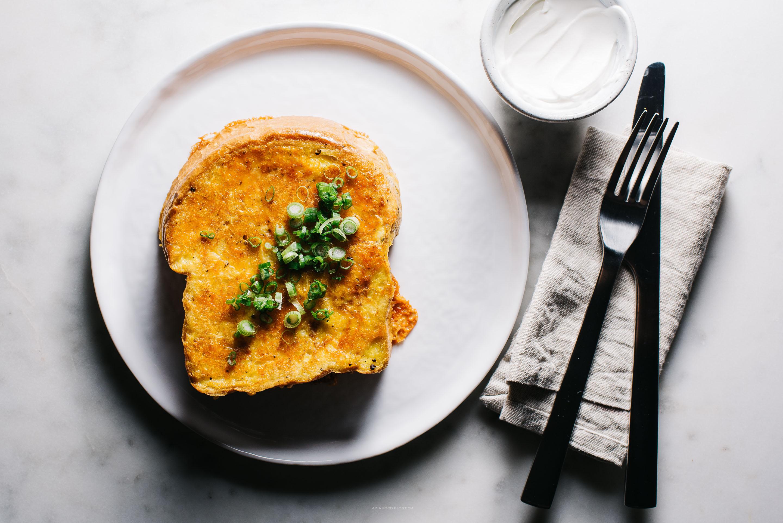 cheesy french toast recipe - www.iamafoodblog.com