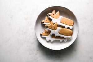 gingerbread corgi cookies - www.iamafoodblog.com