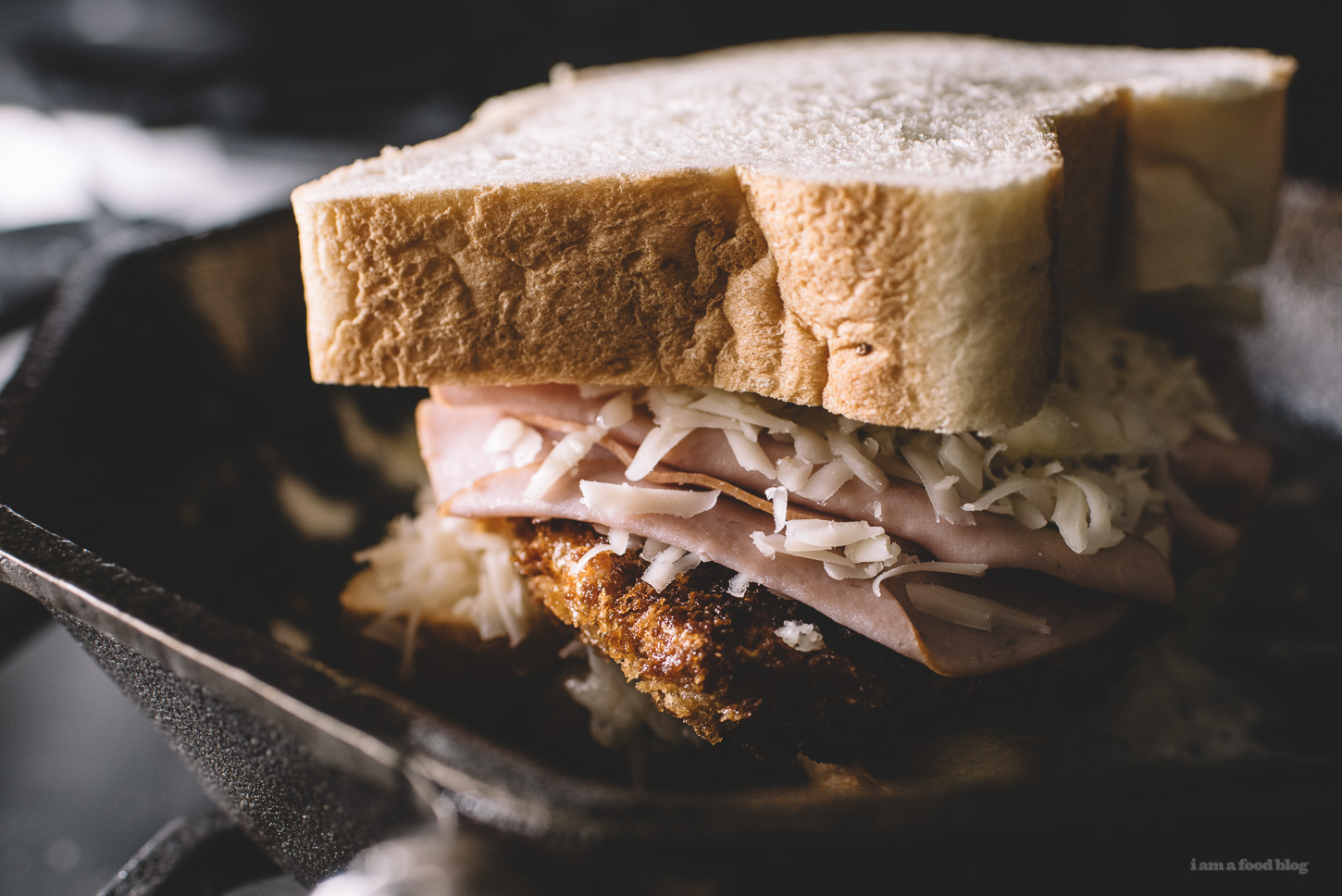 chicken cordon bleu grilled cheese - www.iamafoodblog.com