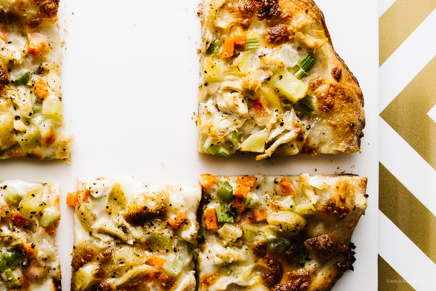 chicken pot pie pizza recipe - www.iamafoodblog.com