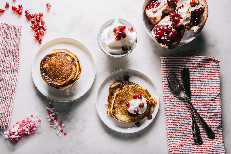 greek yogurt pancake recipe -www.iamafoodblog.com