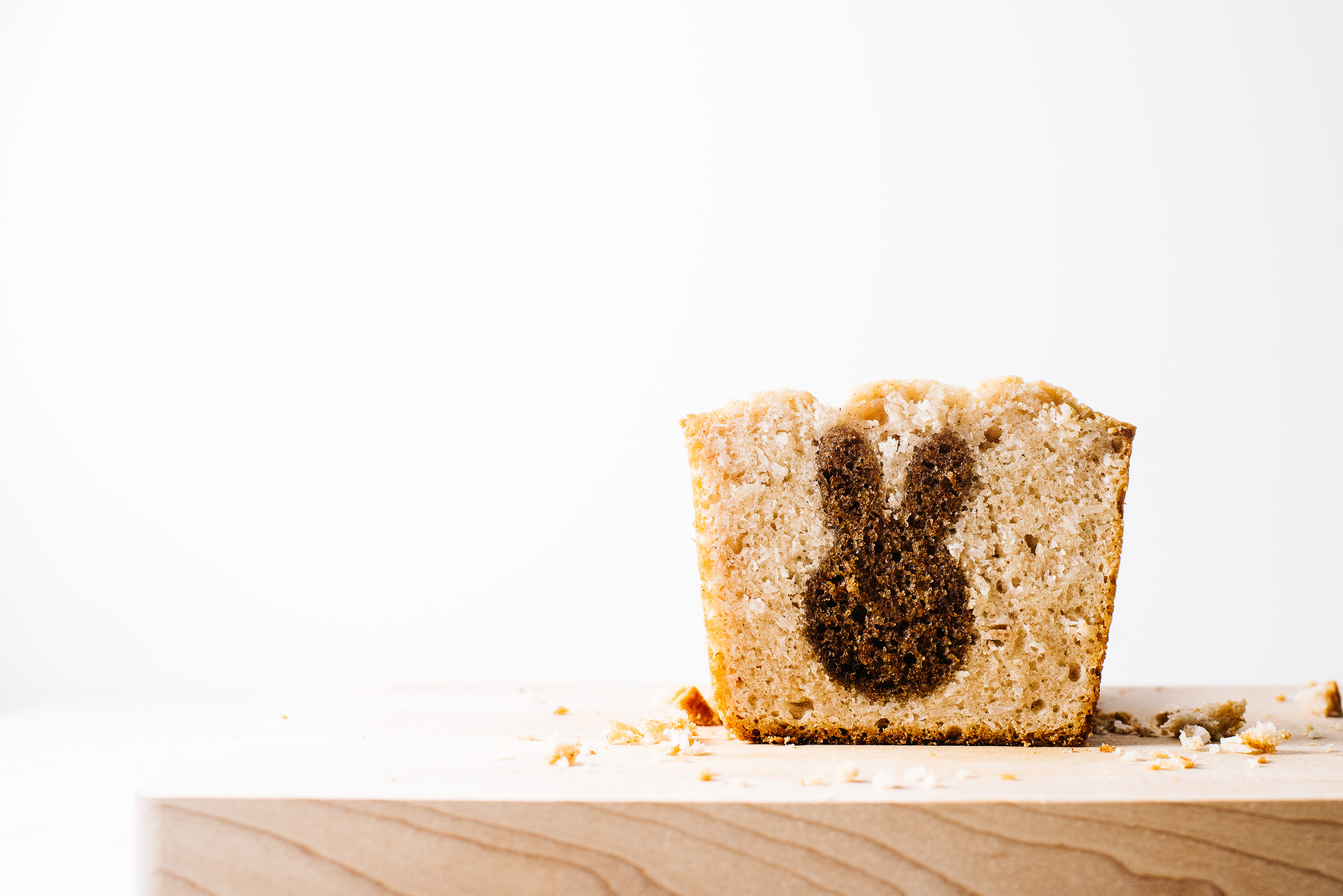 surprise bunny carrot coconut quick loaf - www.iamafoodblog.com