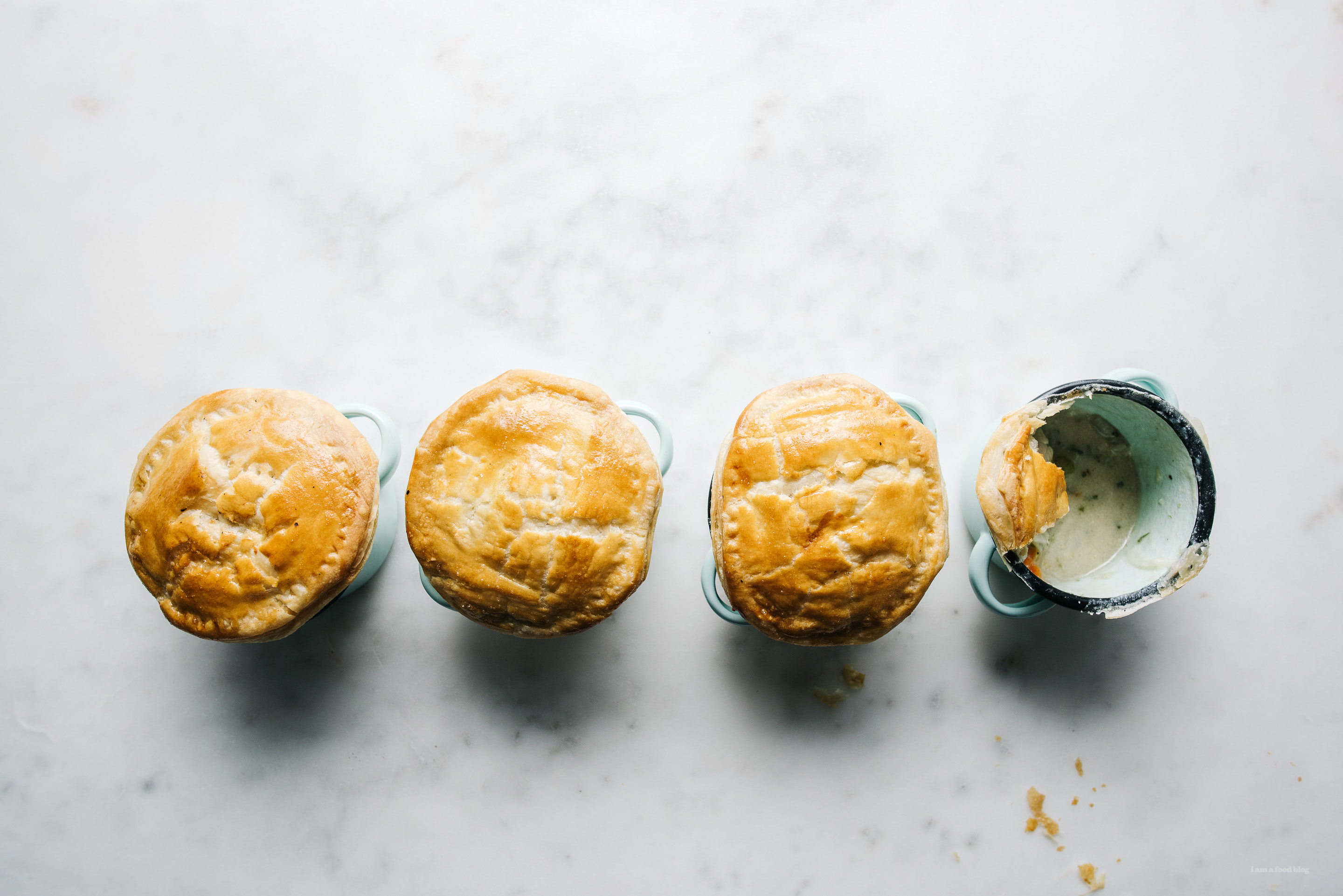 3.14 Pi Day Mini Hainanese Chicken Pot Pies · i am a food blog