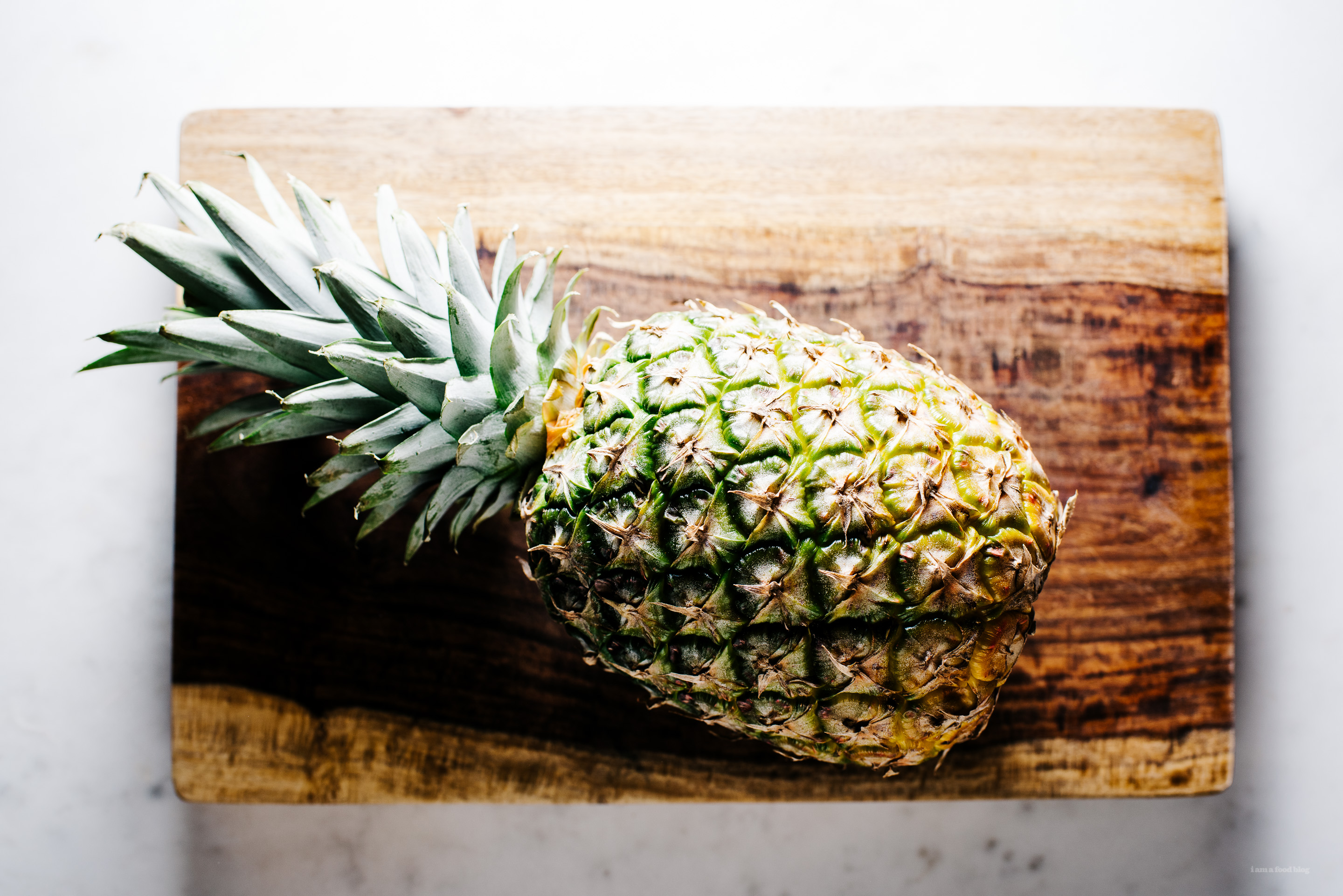 how to cut a pineapple - www.iamafoodblog.com