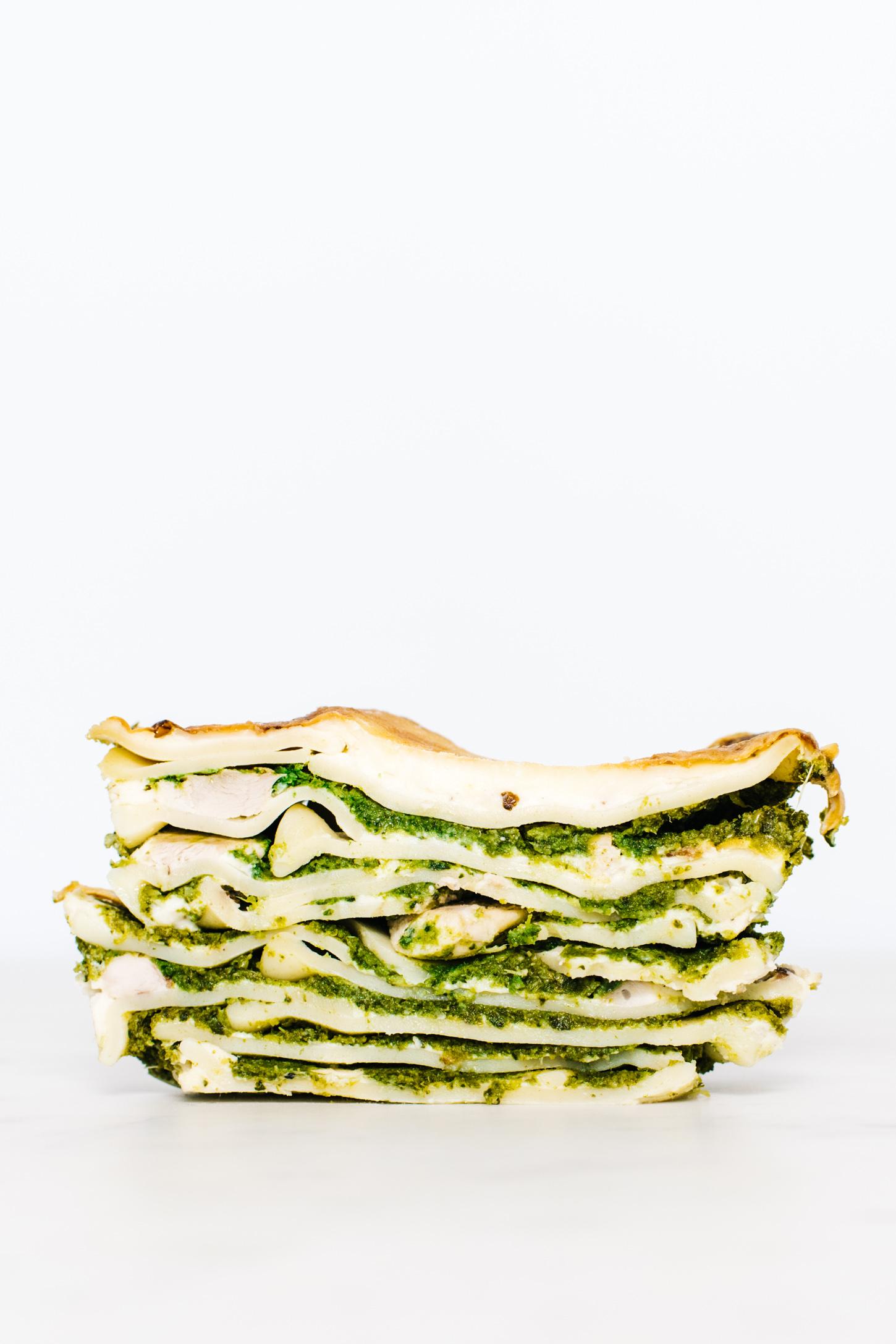 chicken & spring vegetable lasagna - www.iamafoodblog.com