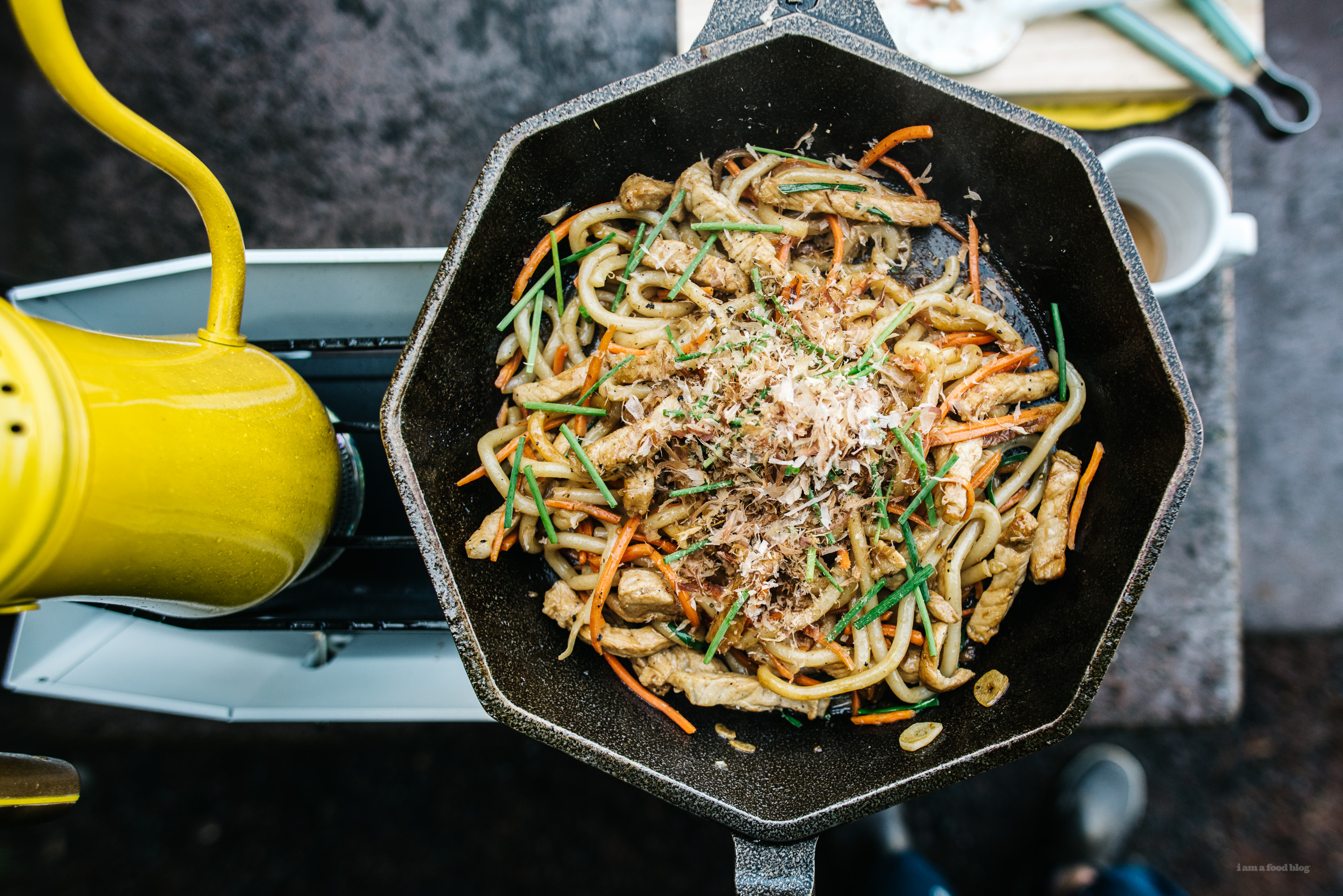 Camp cooking one pan yaki udon i am a food blog i am a food blog camp cooking one pan yaki udon forumfinder Choice Image