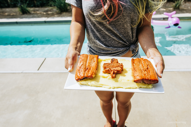 canada day flag maple salmon recipe - www.iamafoodblog.com