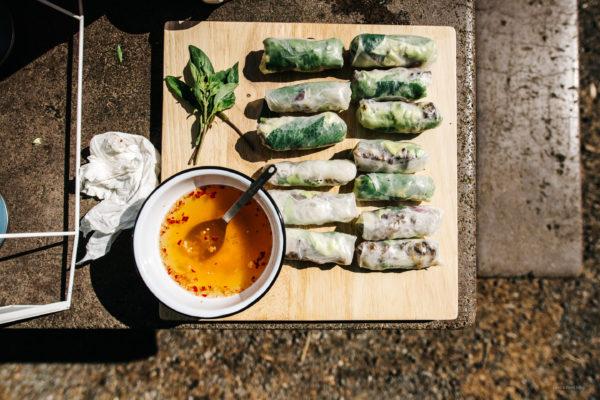 lemongrass beef salad rolls | i am a food blog