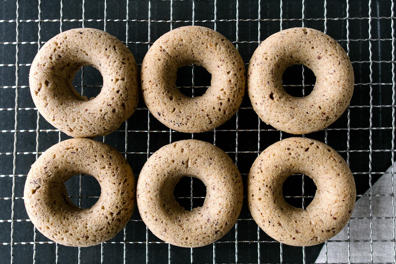 gluten free hazelnut donuts - www.iamafoodblog.com