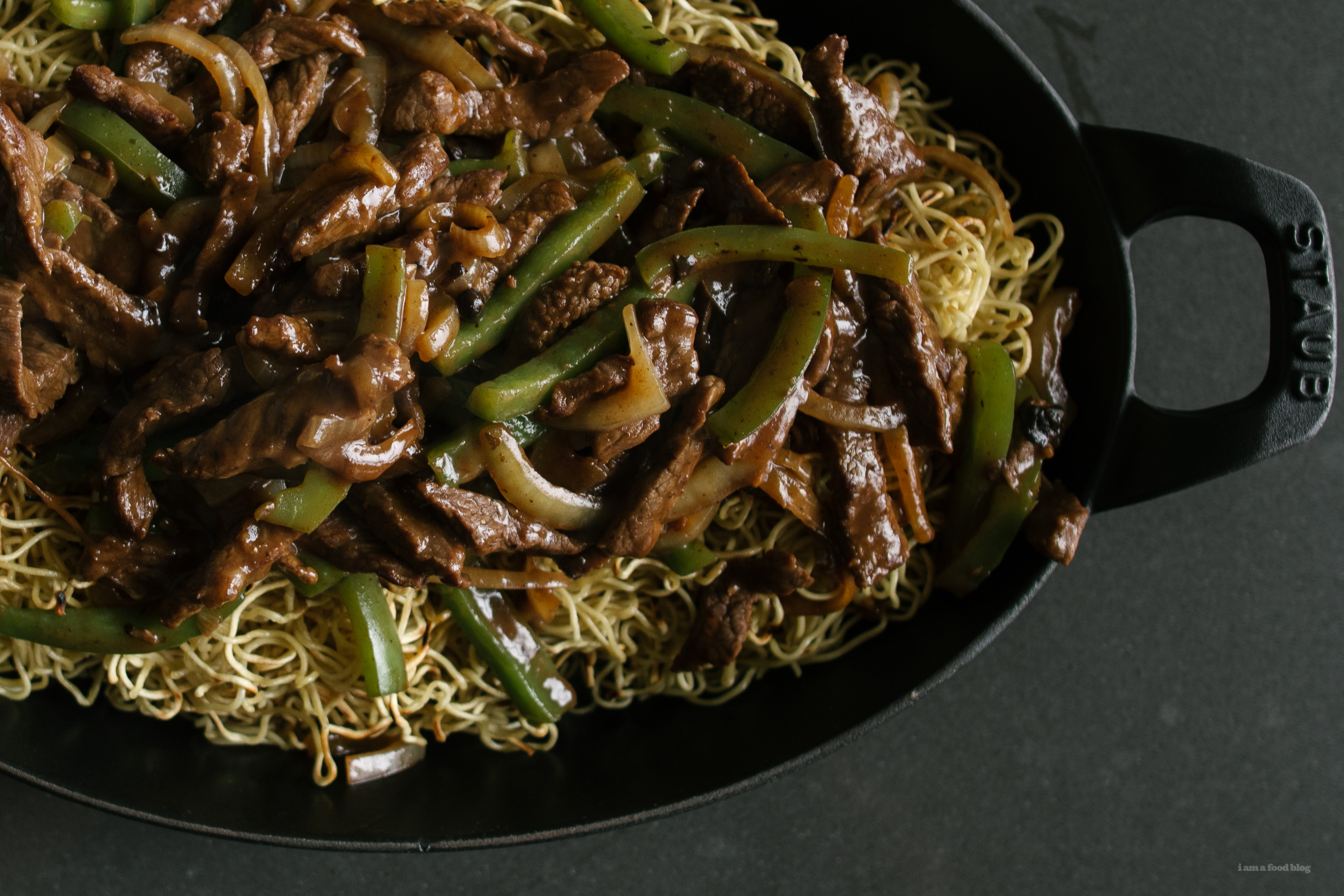 black bean beef chow mein - www.iamafoodblog.com