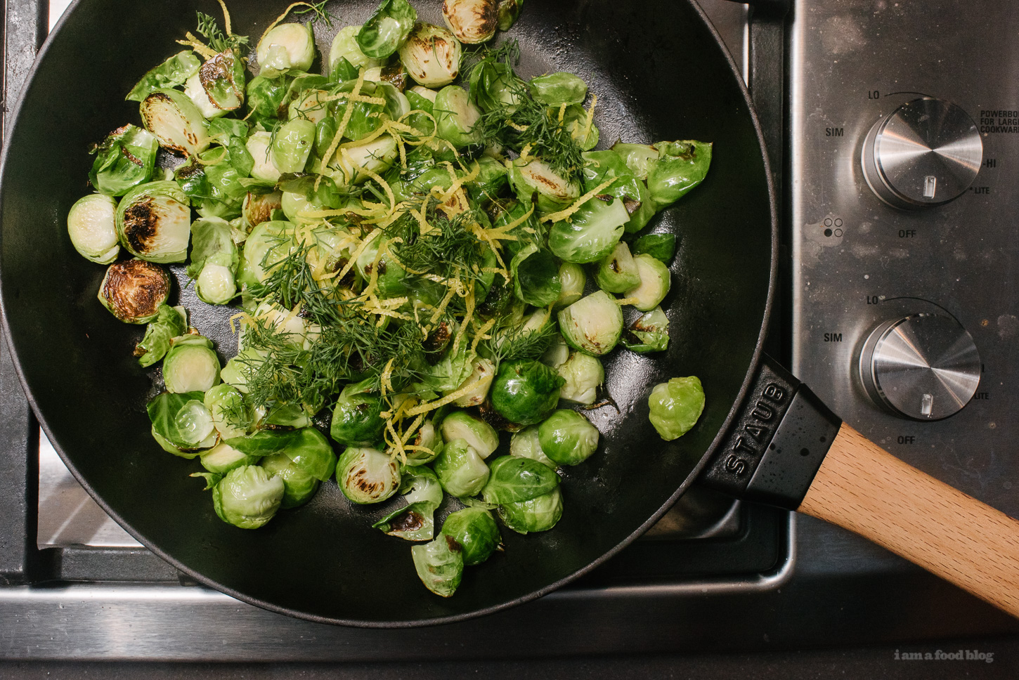 Lemon & Dill Pan Roasted Brussel Sprouts