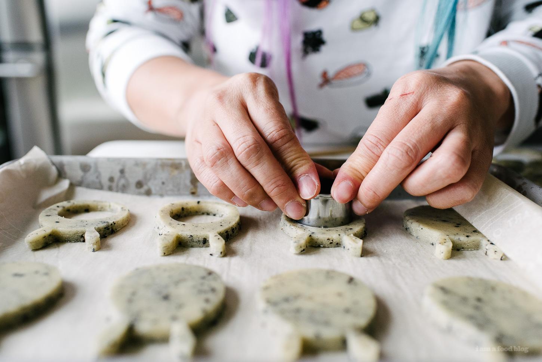 Black Sesame Sugar and Toffee Snicker Doodle Totoro Cookies