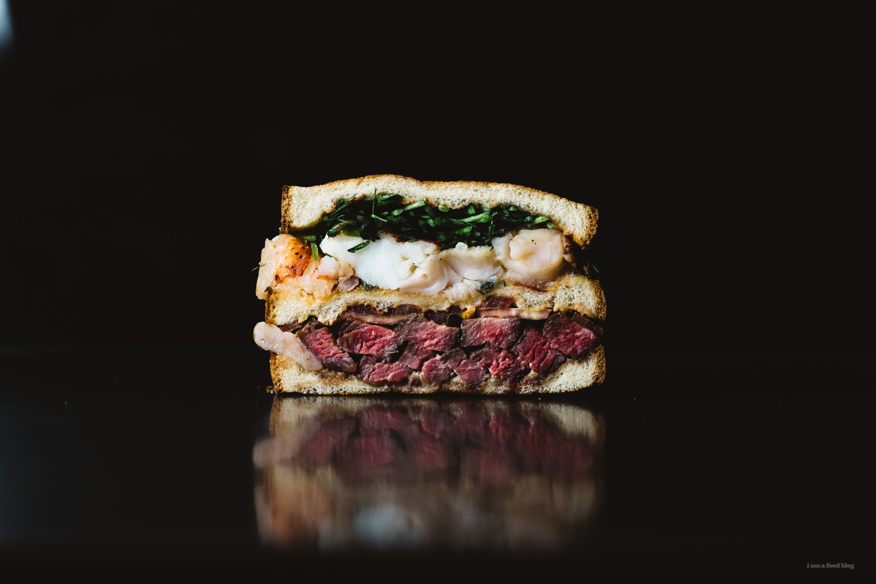 surf and turf steak and lobster sandwich recipe - www.iamafoodblog.com
