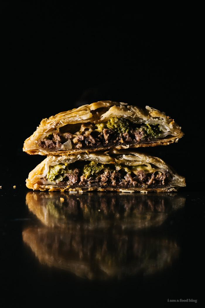 Beef, Broccoli and Cheddar Hand Pie Recipe - www.iamafoodblog.com