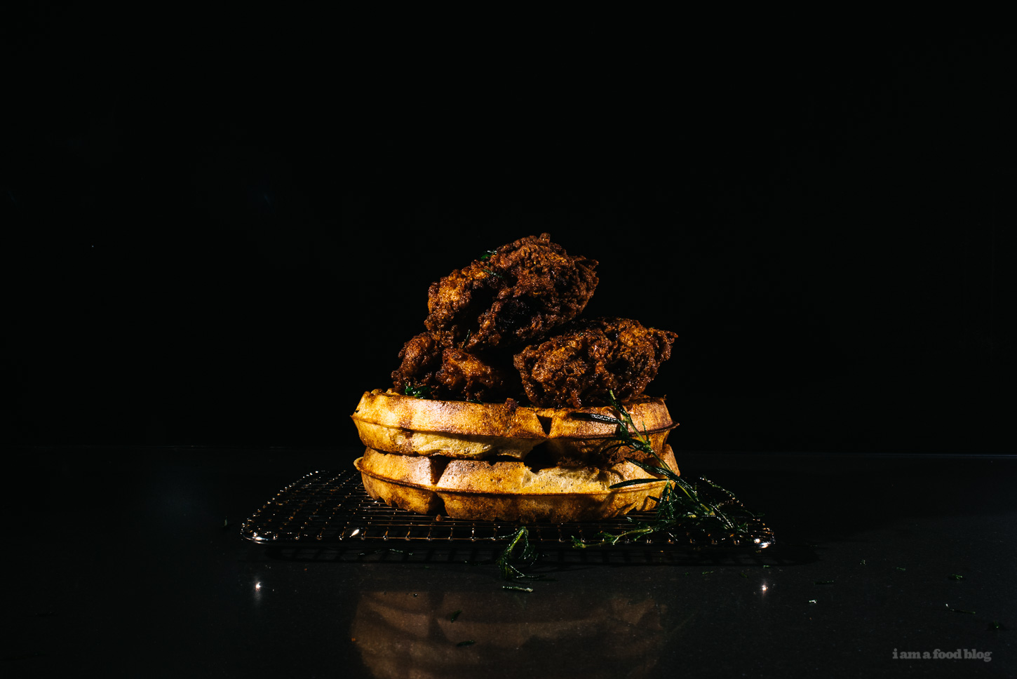 Buttermilk Fried Chicken and Yeasted Rye Waffles recipe - www.iamafoodblog.com