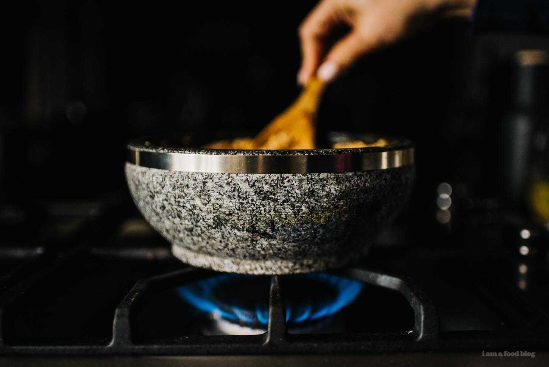 Bolognese Crispy Rice Bowl Recipe - www.iamafoodblog.com