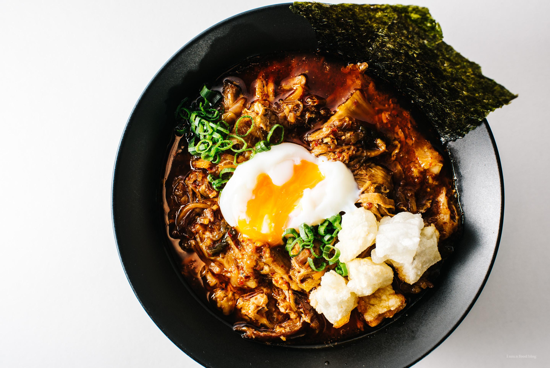 Kimchi Stew with Mochi and Egg Recipe - www.iamafoodblog.com