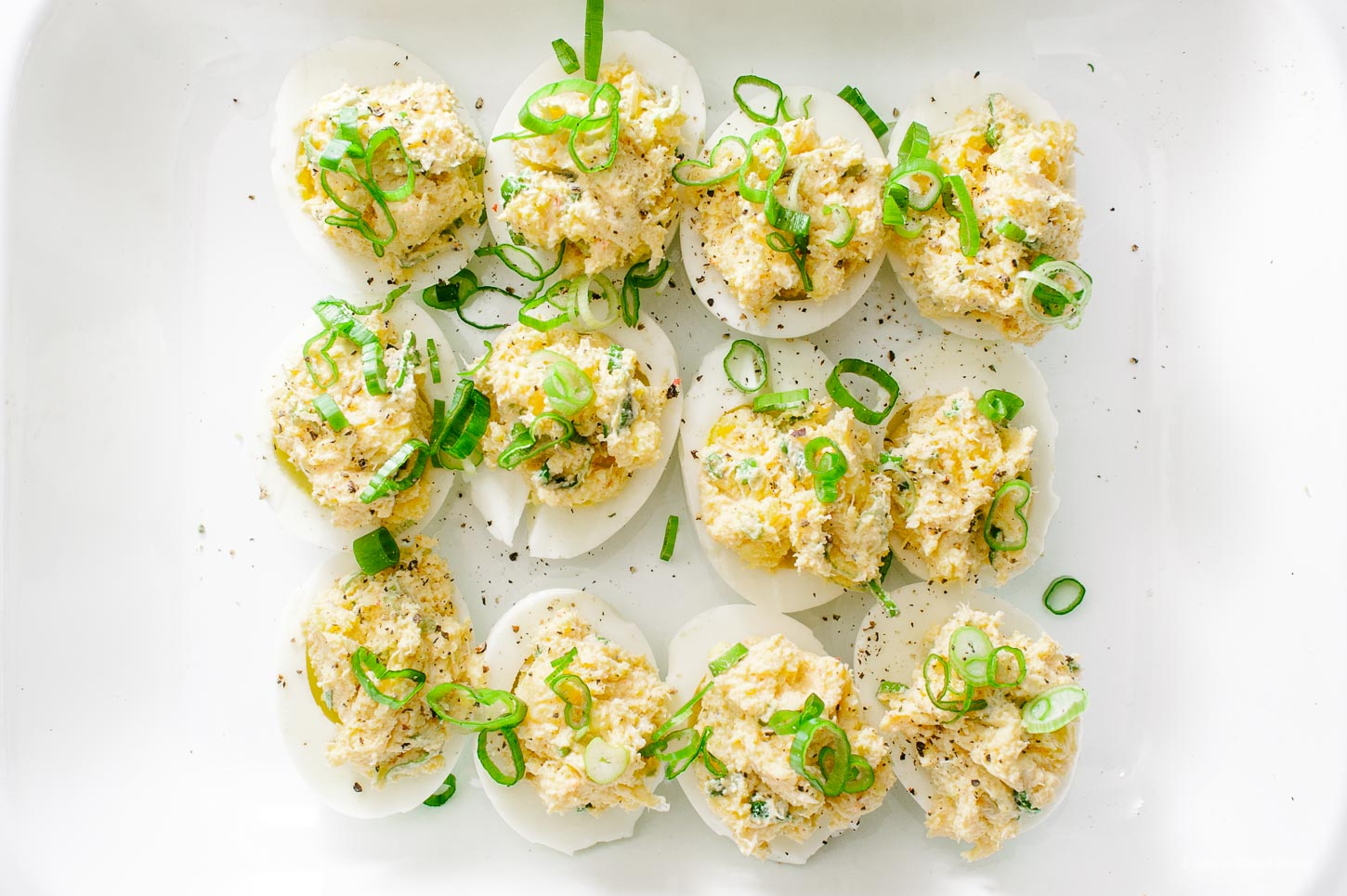 Crab Rangoon Deviled Eggs Recipe - www.iamafoodblog.com