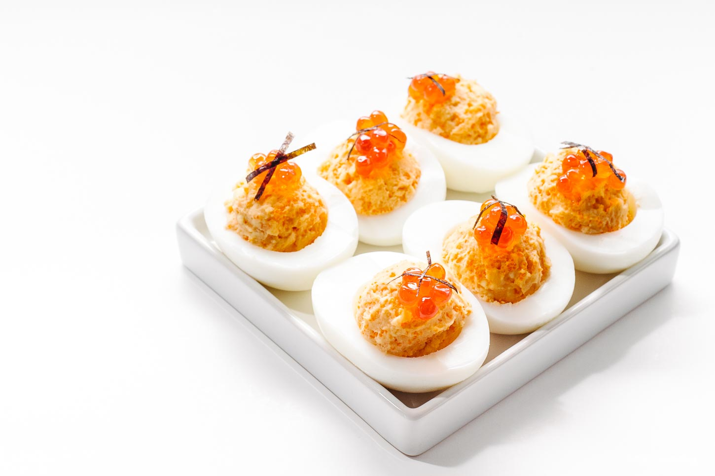 Triple Deviled Eggs Recipe - www.iamafoodblog.com