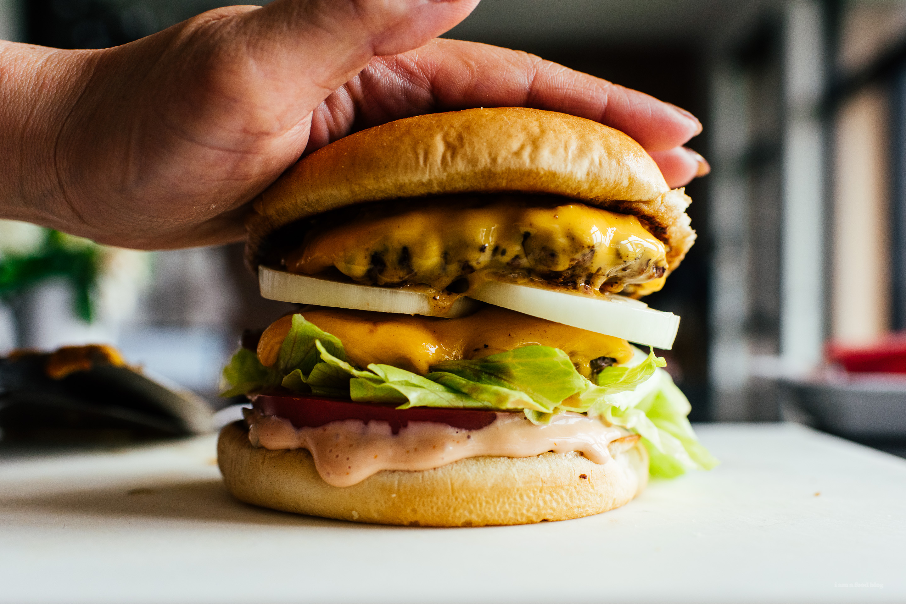 Copycat In-N-Out Double Double Burger Recipe - www.iamafoodblog.com
