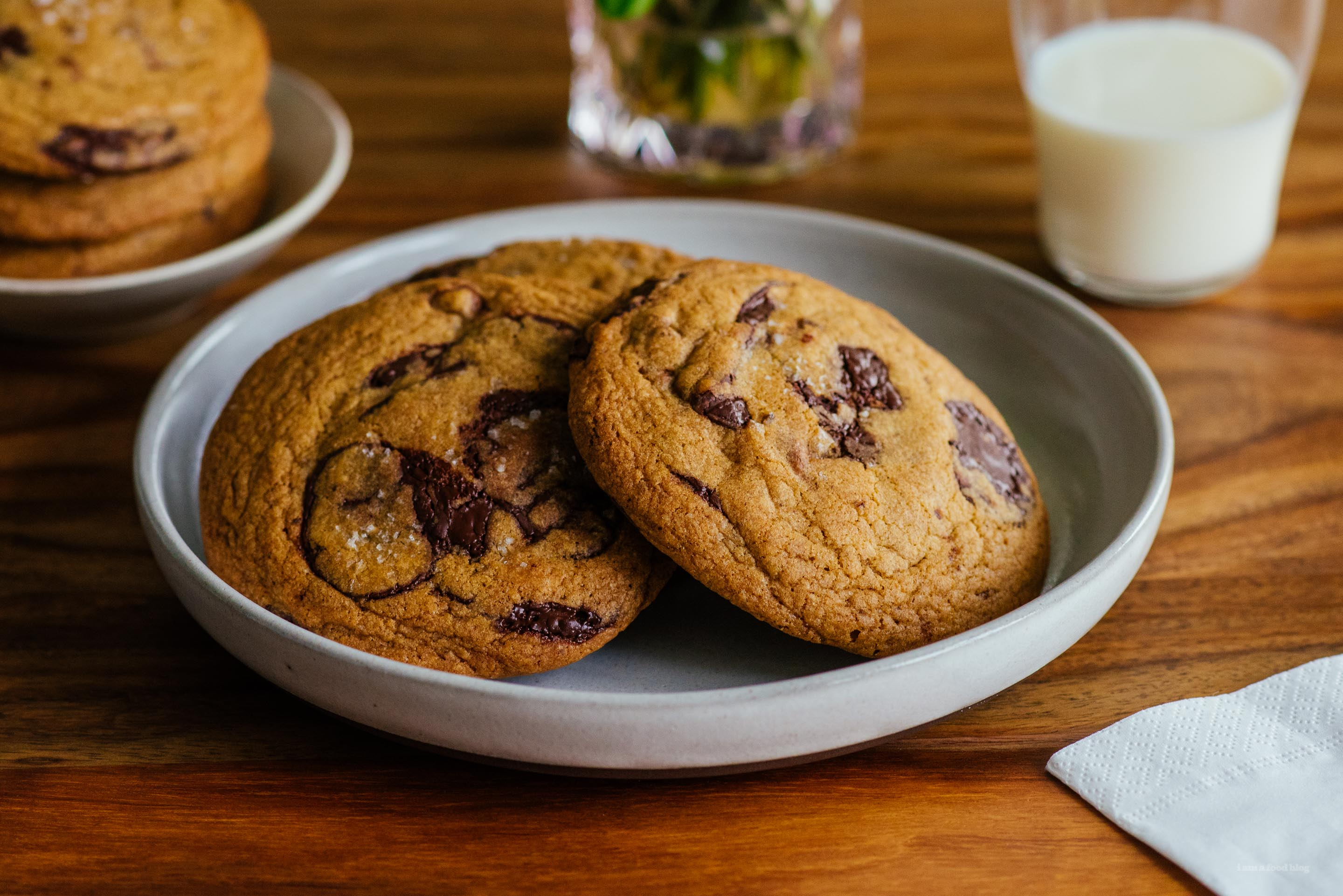 Brown Butter and Toffee Chocolate Chip Cookie Recipe · i am a food ...