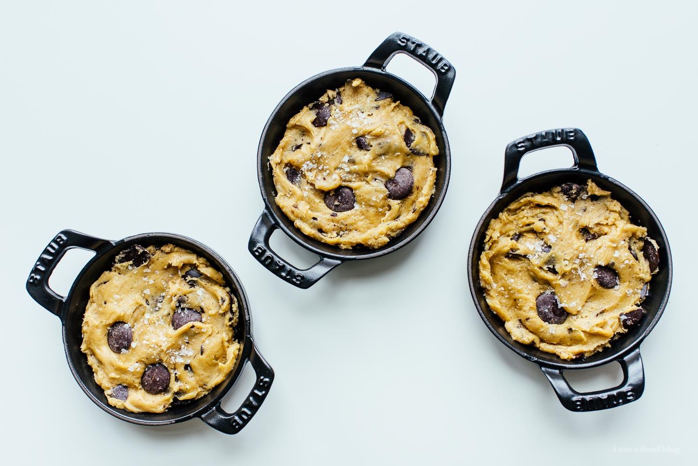 Mini Skillet Chocolate Chip Cookies Recipe - www.iamafoodblog.com