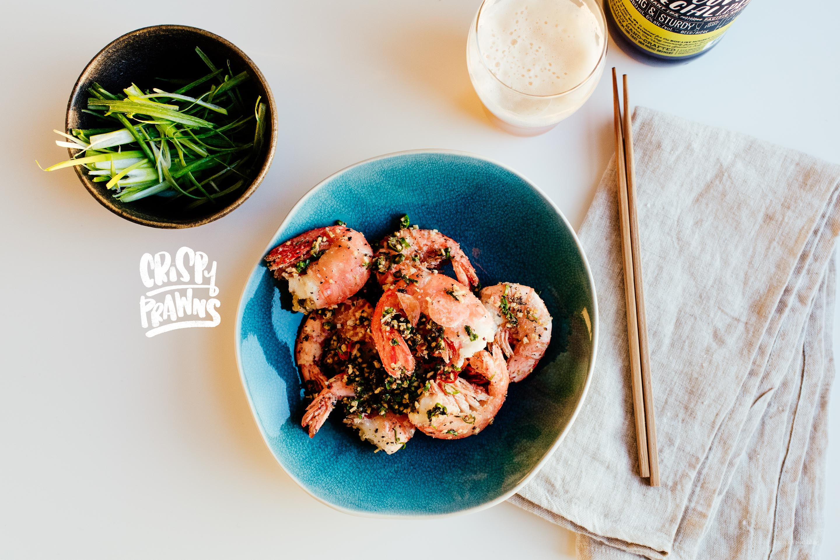 Crispy Vietnamese Roasted Salt Garlic Prawns Recipe