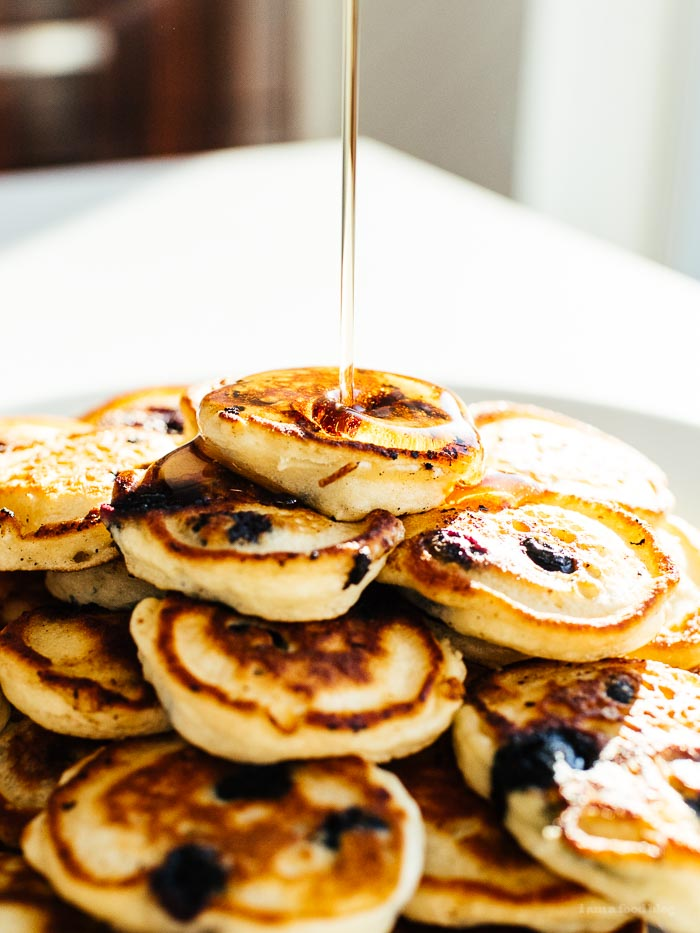 Easy Blueberry Pancake Recipe - www.iamafoodblog.com
