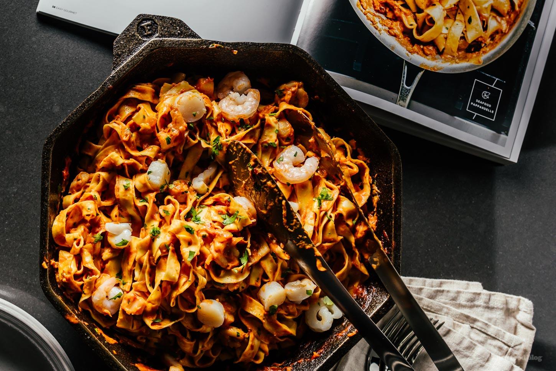Spicy Seafood Tagliatelle Recipe