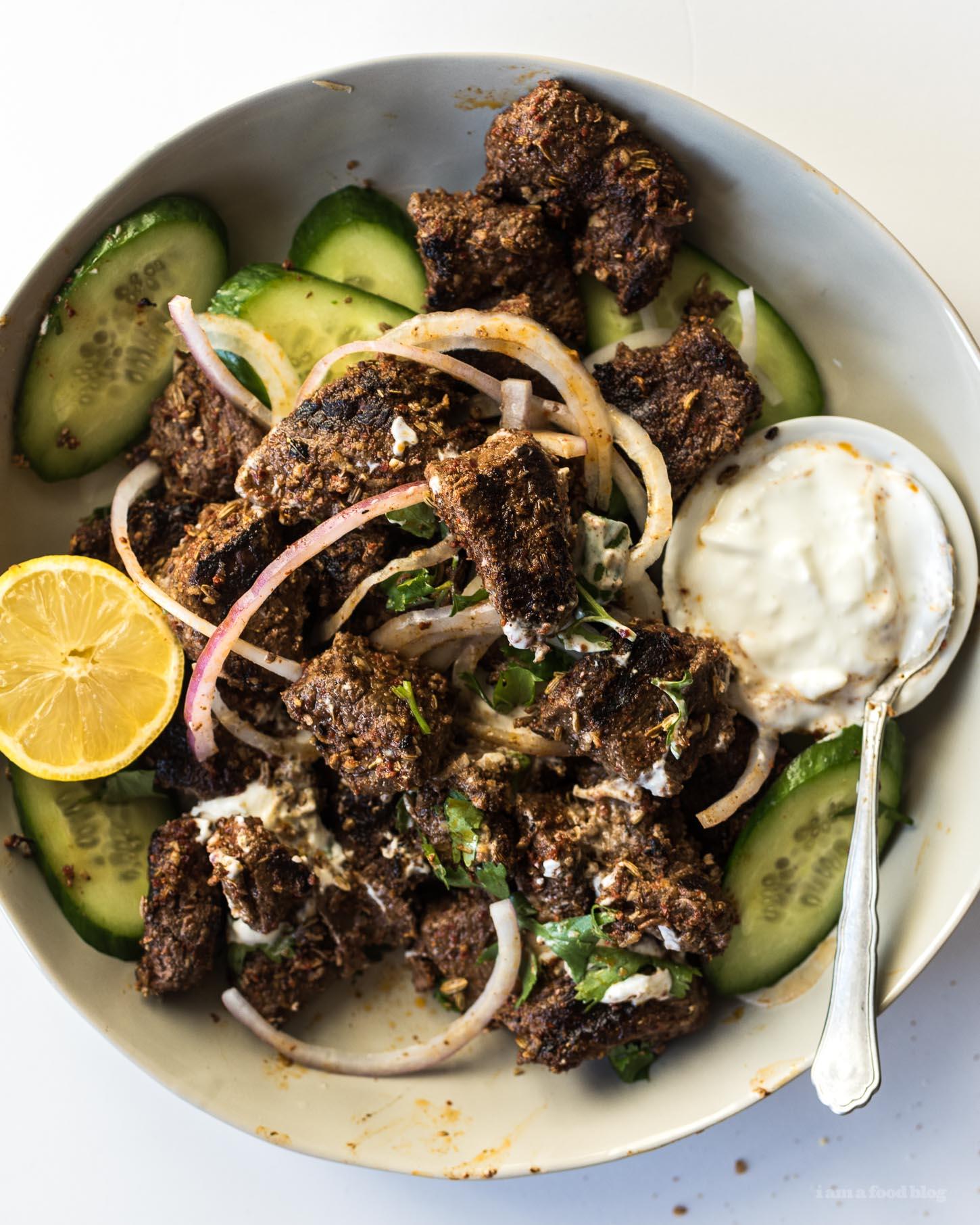 Wagyu Beef Sharwarma Recipe - www.iamafoodblog.com