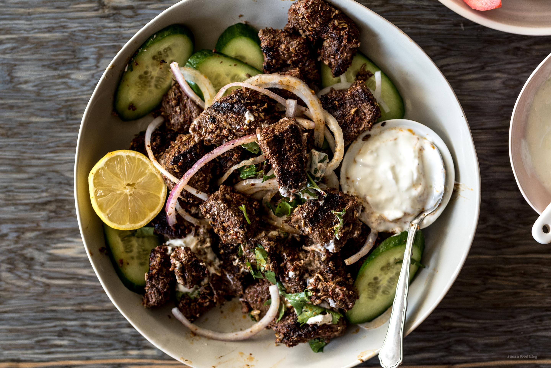 spiced beef shawarma kebabs #recipe #easy #beef #dinner